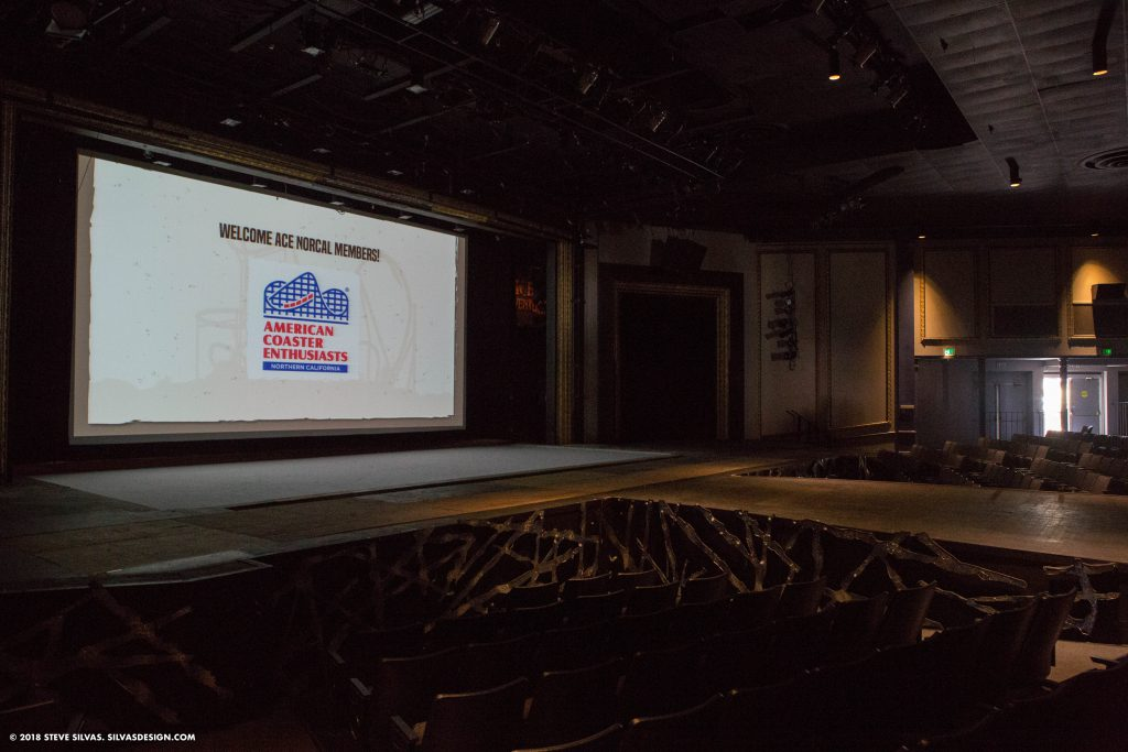 Presentations inside the Great America Theater