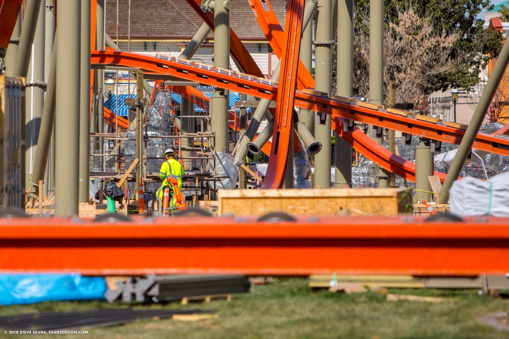 A closeup of RailBlazer under construction
