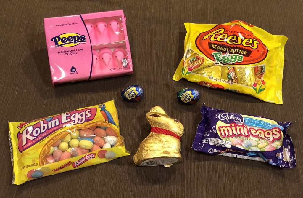 The Easter candy that we tasted on this episode