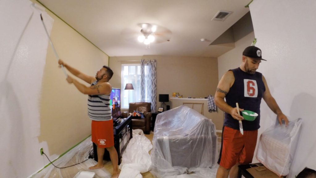 The closest we'll ever get to Trading Spaces - painting our living room