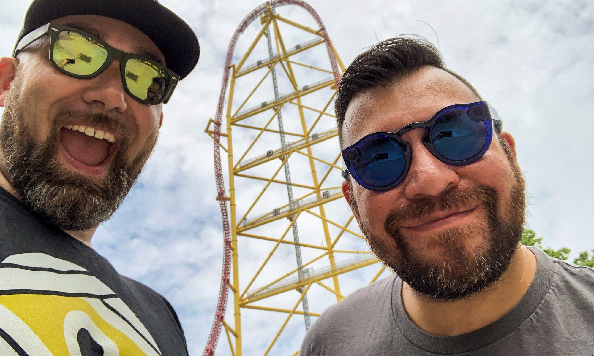 Mike & Steve at Cedar Point