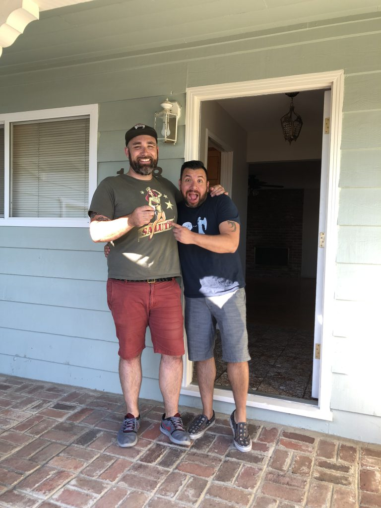 Mike & Steve get the keys to their new house