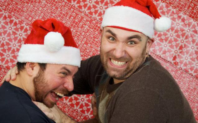 Mike & Steve at Xmas 2011